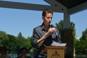 Trevor Schaefer Speaking at the Children's Cancer Pavilion Ribbon Cutting June 6, 2015