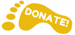 donate footprint logo gold-min